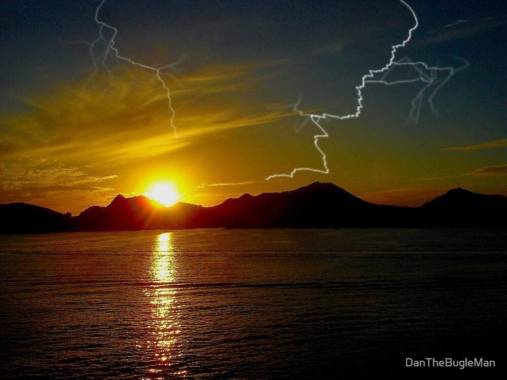 Cabo`s electrifying sunset by DanTheBugleMan