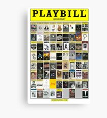 Broadway Playbill Collage Canvas Print