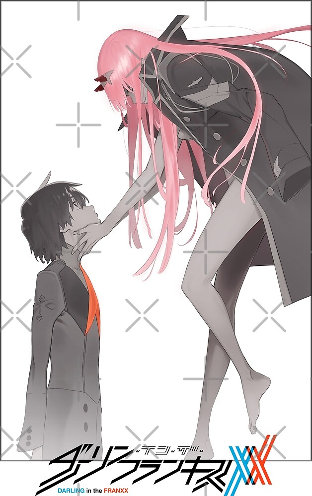 Darling in the Franxx Hiro and Zero Two logo by Афанасий Борисов