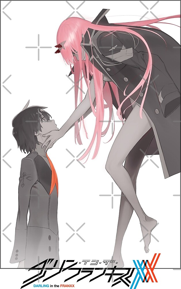 Darling in the Franxx Hiro and Zero Two logo by solidmega