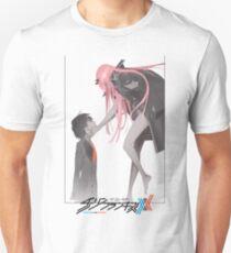 Darling in the Franxx Hiro and Zero Two logo Unisex T-Shirt