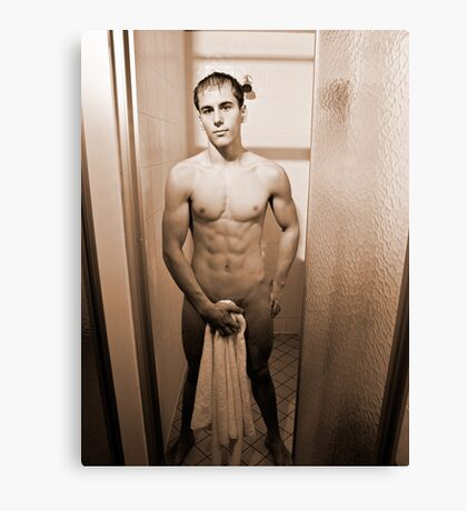 Shower Scene - Sepia Canvas Print