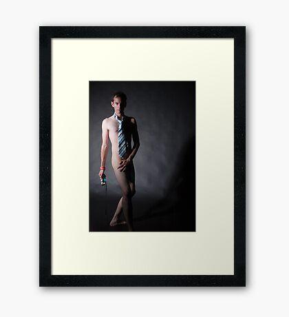 The Tie Framed Print