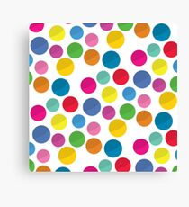 Colorful circles pattern on white background Canvas Print