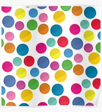 Colorful circles pattern on white background Poster