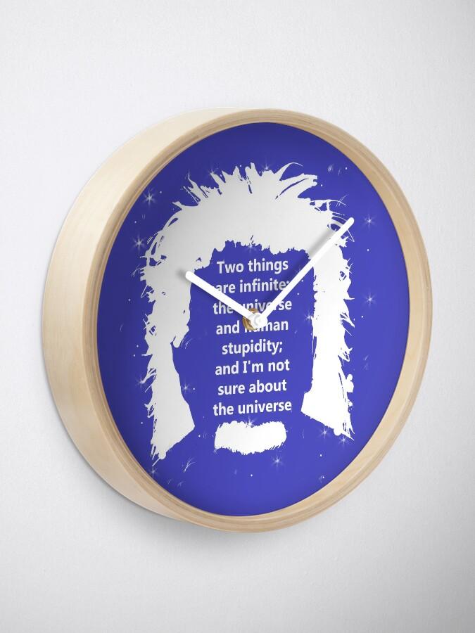 Vista alternativa de Reloj Diseño de cita de Albert Einstein