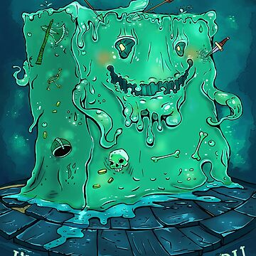 Geeky DnD Monster Slime Cube | Geeky Love and Friendship by PathOfPixels