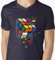 Rubik's Cube Men's V-Neck T-Shirt