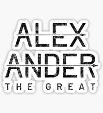 Alexander the Great - male first name Sticker