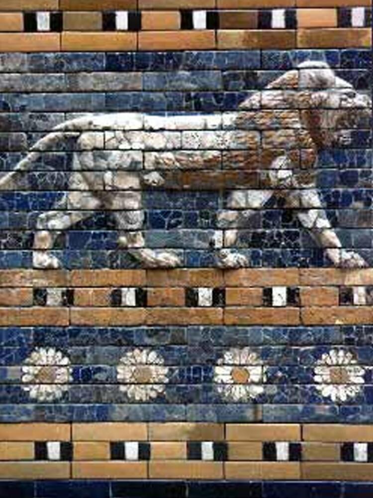 BABYLON, Gates of Babylon, Detail of the Ishtar Gate reconstruction by TOMSREDBUBBLE