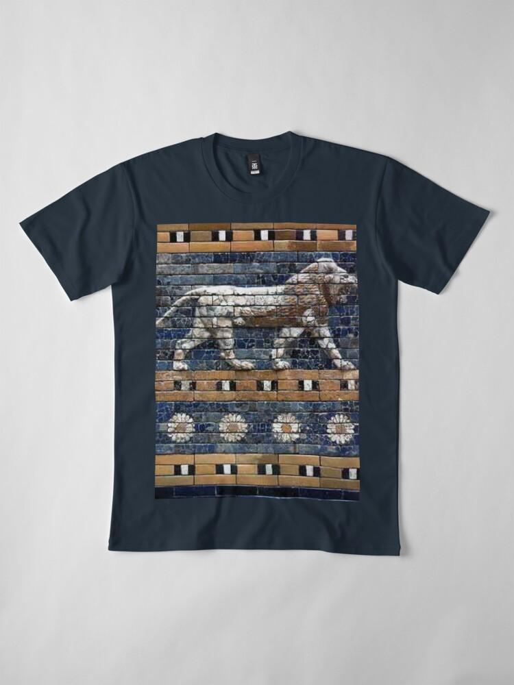 Alternate view of BABYLON, Gates of Babylon, Detail of the Ishtar Gate reconstruction Premium T-Shirt