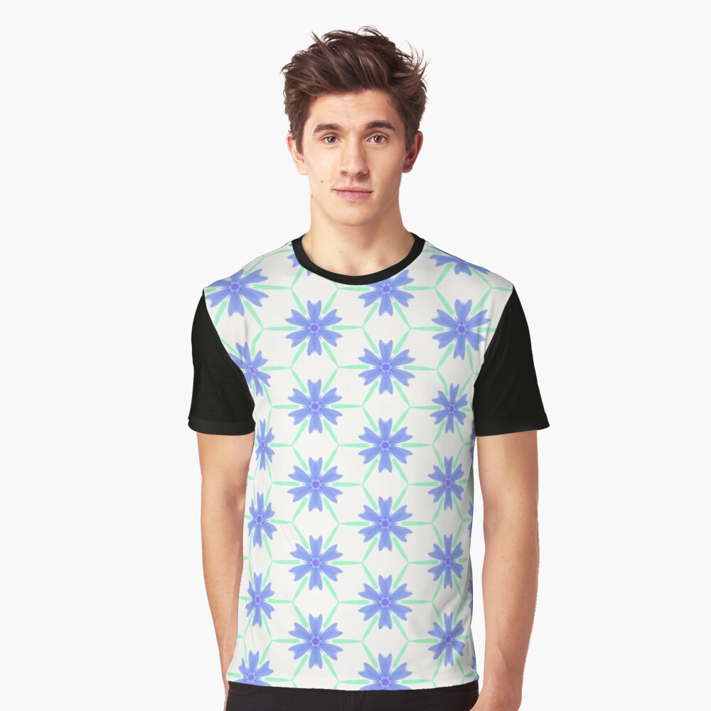 Stylised cornflower Graphic T-Shirt Front