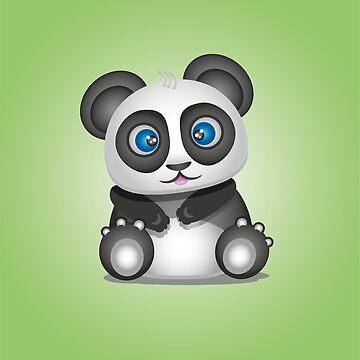 Panda green by victoriaArt