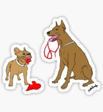love & peace & dogs Sticker