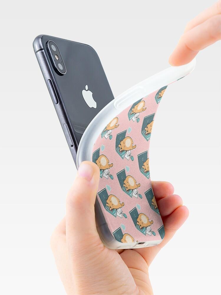 Alternative Ansicht von Nette Laptop-Katze iPhone-Hülle & Cover