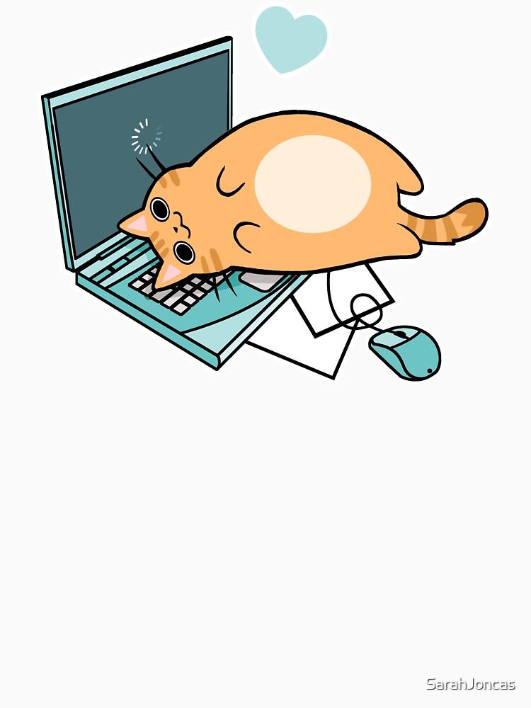 Nette Laptop-Katze von SarahJoncas