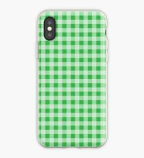 Green Gingham iPhone Case
