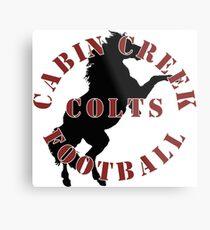 Cabin Creek Colts Football Metal Print