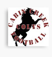 Cabin Creek Colts Football Canvas Print