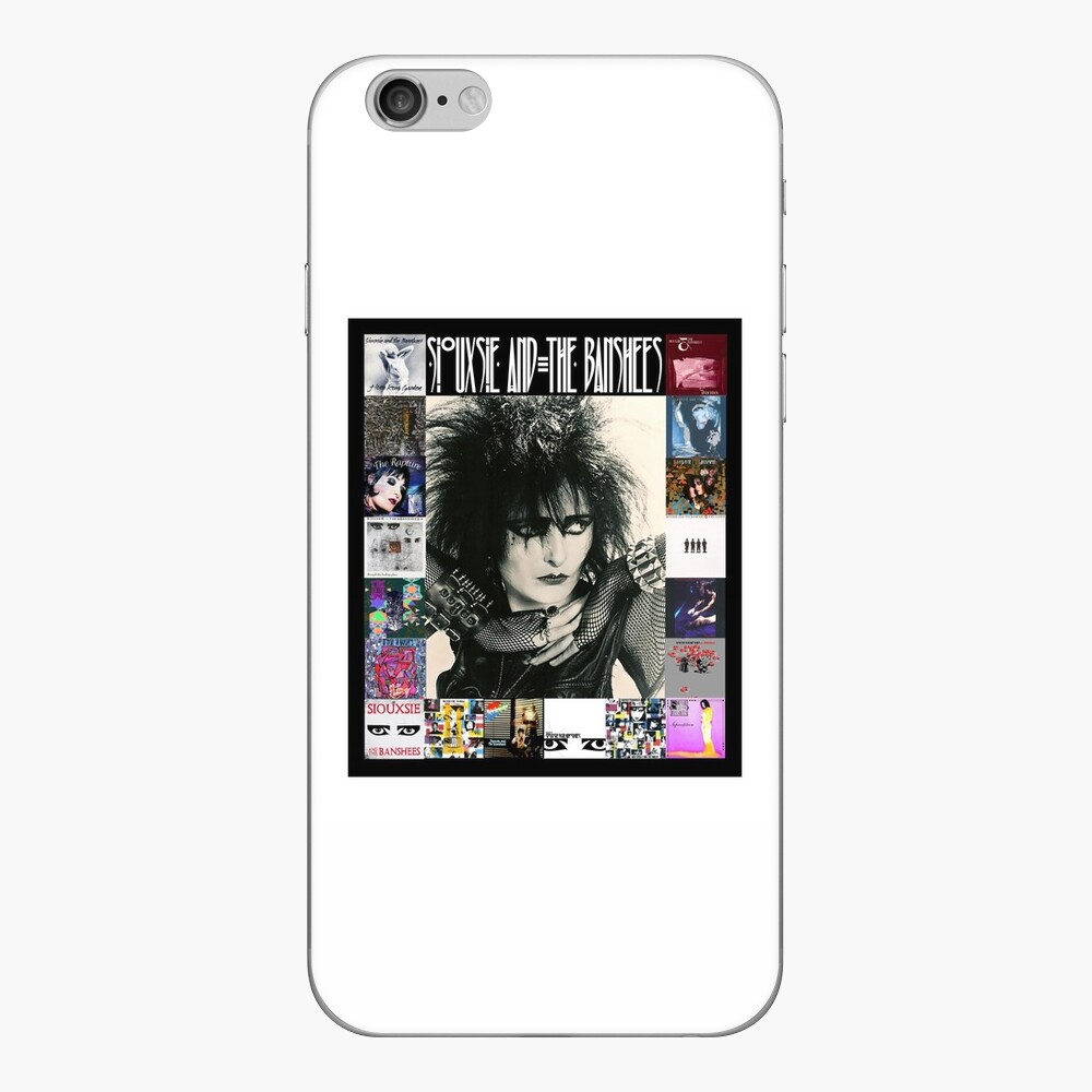 Siouxsie and the Banshees - Siouxsie Sioux framed in Album Covers 1 iPhone Skin