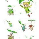 Link & the Koroks by itssabbyg