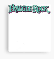 Fraggle Rock Logo Distressed Faded Vintage Canvas Print