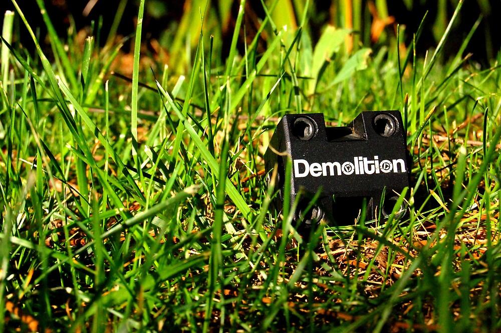 Demolition bmx stem by Justin Emery