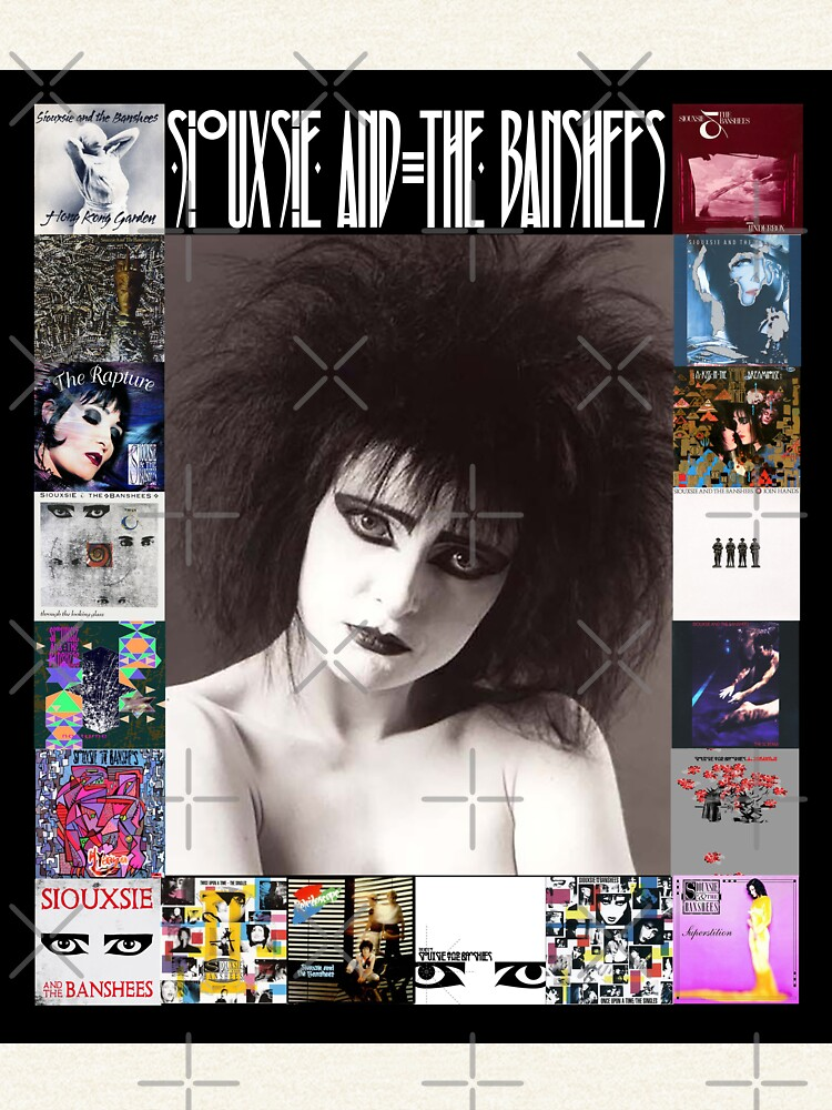 Siouxsie and the Banshees - Siouxsie Sioux framed in Album Covers 2 by litmusician