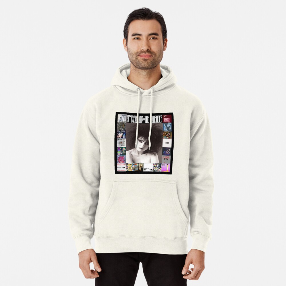 Siouxsie and the Banshees - Siouxsie Sioux framed in Album Covers 2 Pullover Hoodie