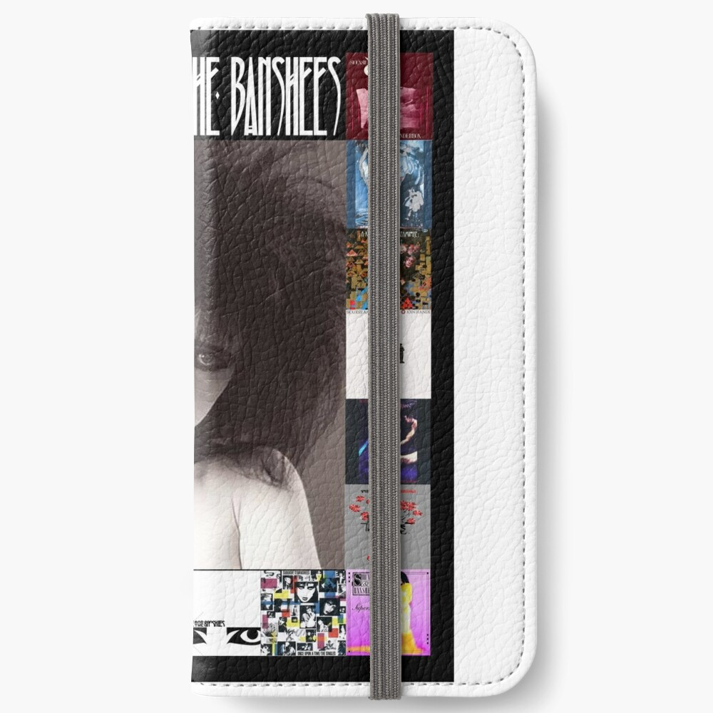 Siouxsie and the Banshees - Siouxsie Sioux framed in Album Covers 2 iPhone Wallet