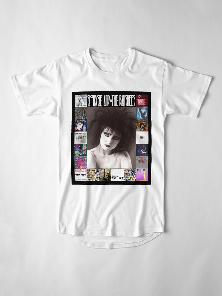 Alternate view of Siouxsie and the Banshees - Siouxsie Sioux framed in Album Covers 2 Long T-Shirt