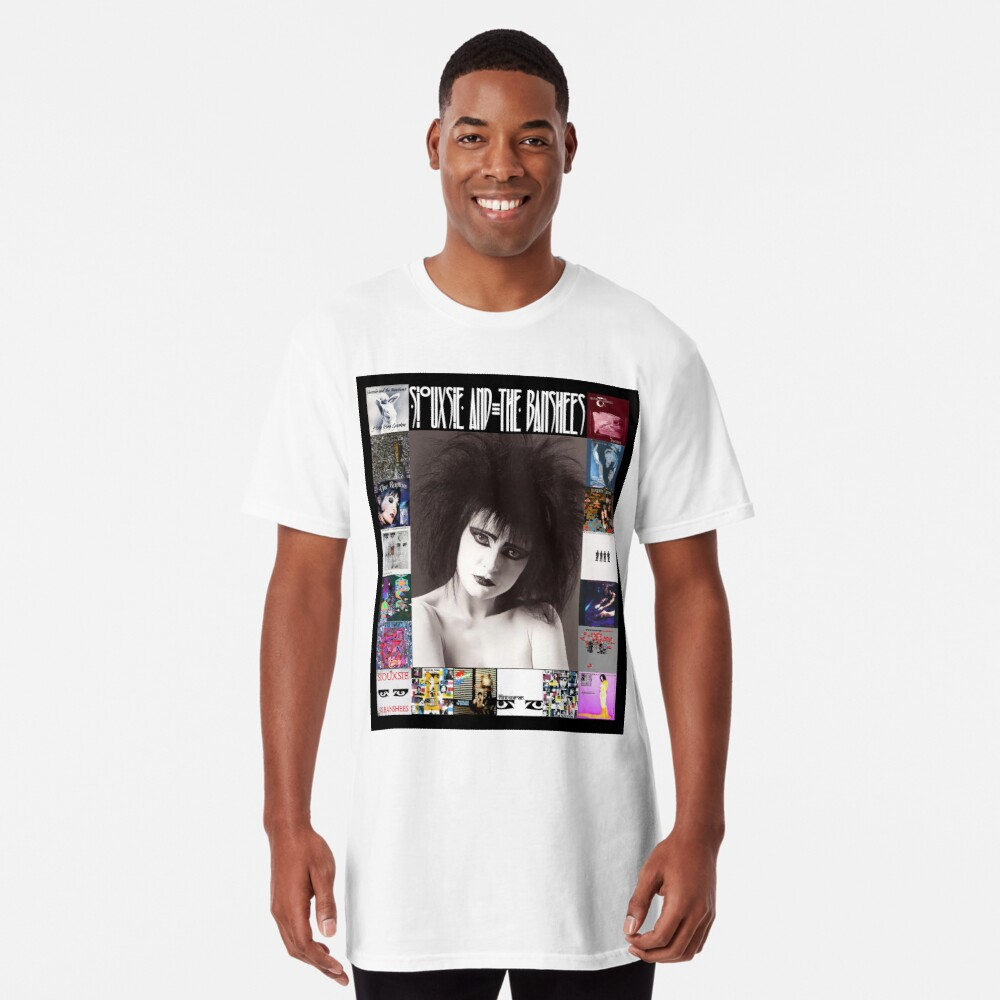 Siouxsie and the Banshees - Siouxsie Sioux framed in Album Covers 2 Long T-Shirt
