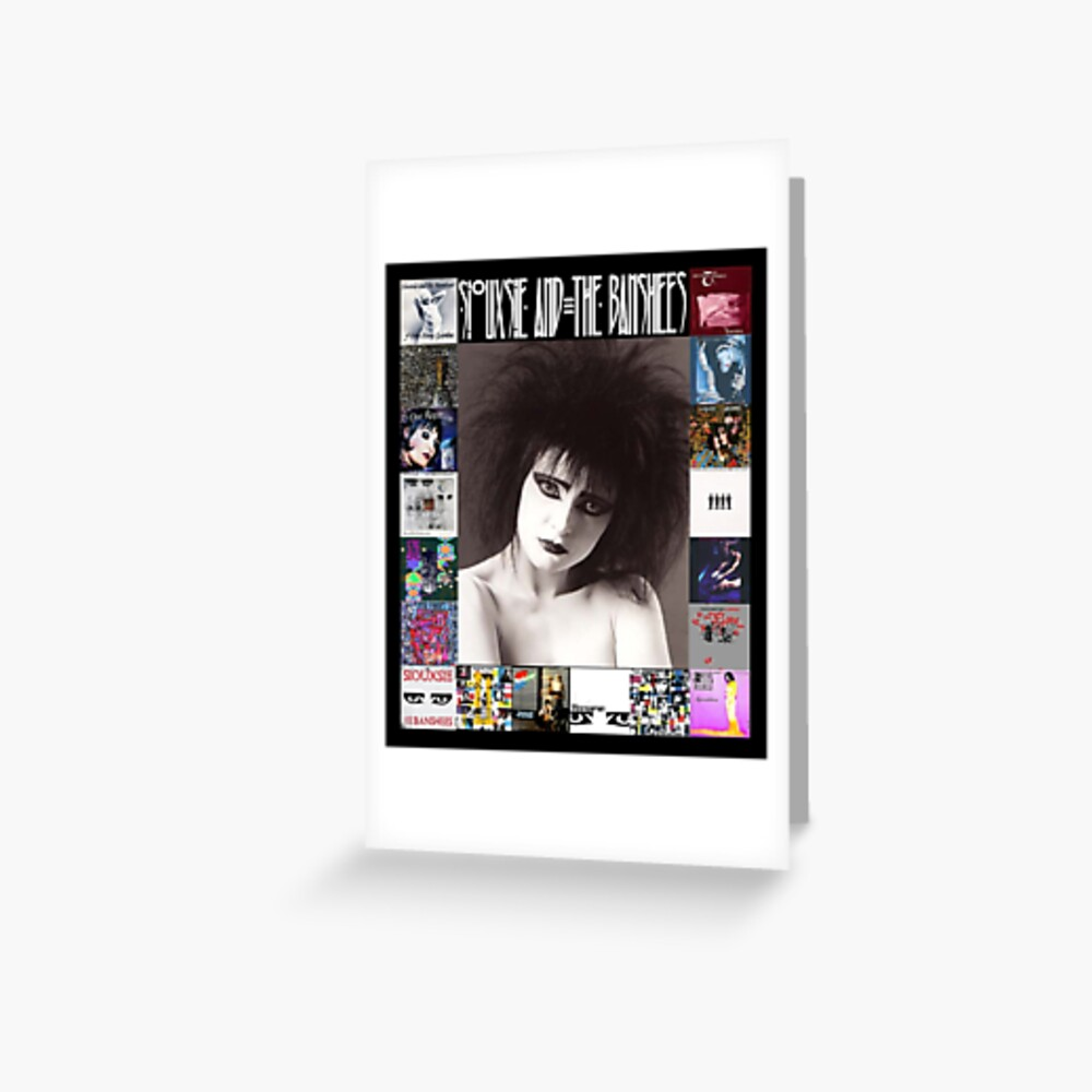 Siouxsie and the Banshees - Siouxsie Sioux framed in Album Covers 2 Greeting Card