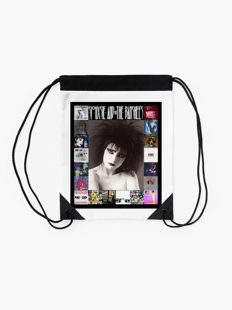 Alternate view of Siouxsie and the Banshees - Siouxsie Sioux framed in Album Covers 2 Drawstring Bag
