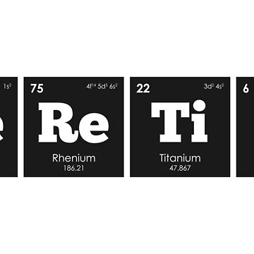 Chemistry - Elements of the Periodic Table: HERETIC by ThisOnAShirt