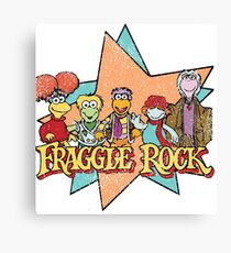Fraggle Rock Fraggles Vintage Distressed 80s Faded Canvas Print