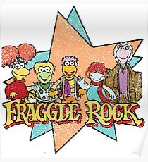 Fraggle Rock Fraggles Vintage Distressed 80s Faded Poster