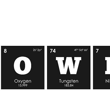 Chemistry - Elements of the Periodic Table: CROWN by ThisOnAShirt