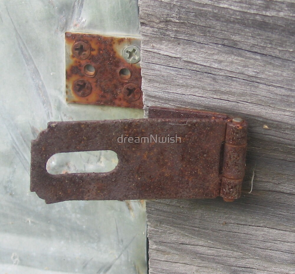 Rusted and Unsecured - closeup by dreamNwish