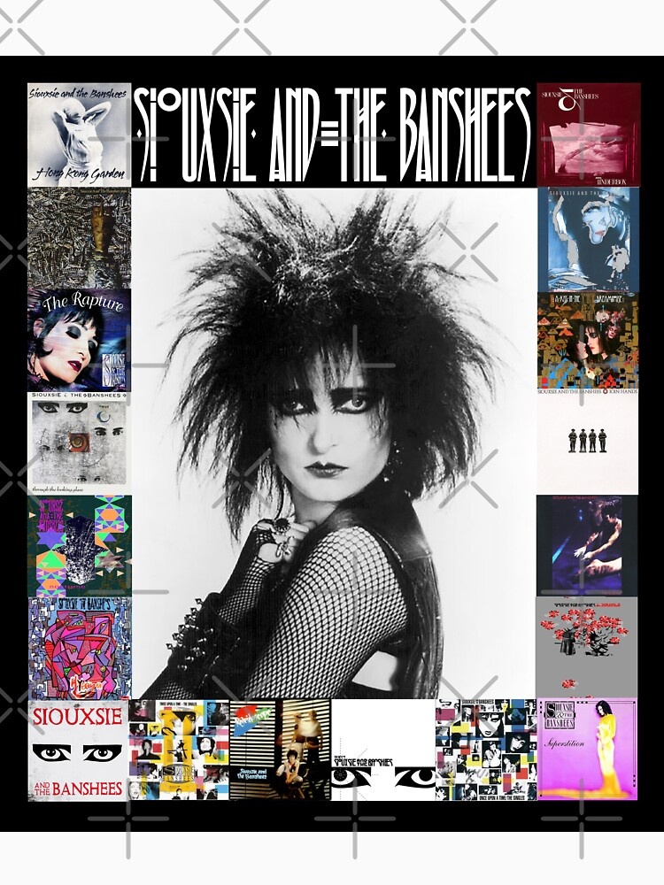 Siouxsie and the Banshees - Siouxsie Sioux framed in Album Covers 3 by litmusician