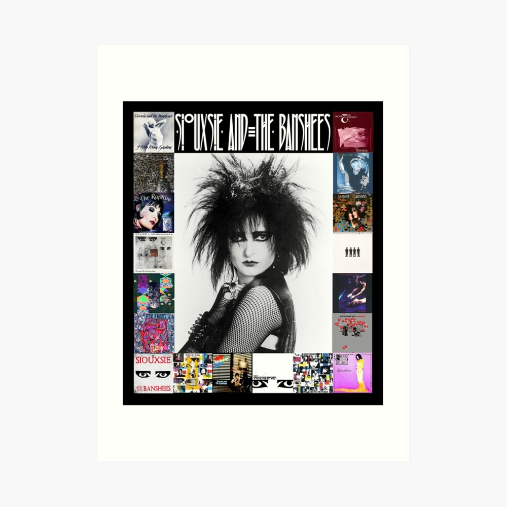 Siouxsie and the Banshees - Siouxsie Sioux framed in Album Covers 3 Art Print
