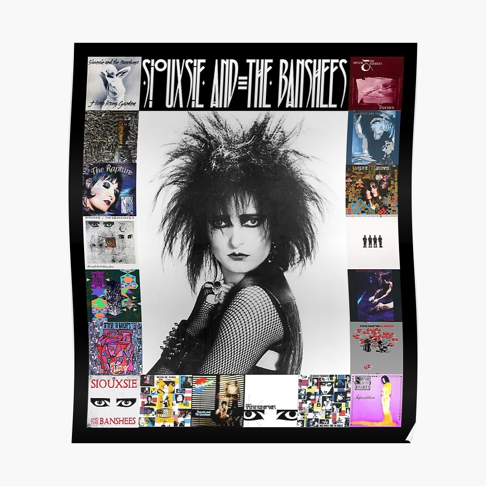 Siouxsie and the Banshees - Siouxsie Sioux framed in Album Covers 3 Poster