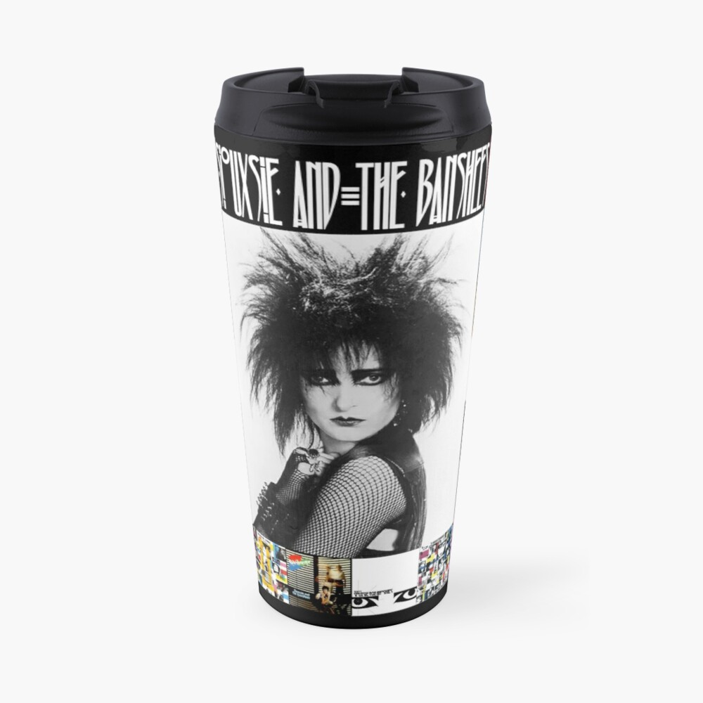 Siouxsie and the Banshees - Siouxsie Sioux framed in Album Covers 3 Travel Mug