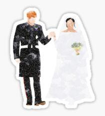 Prince Harry and Meghan Markle royal wedding Sticker