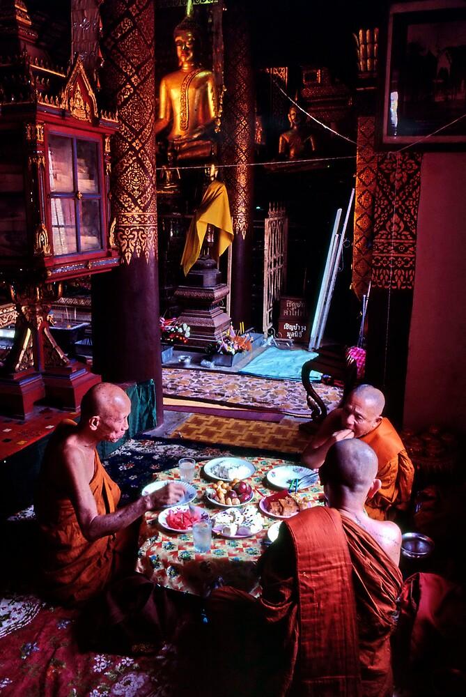 Thai temple scene by John Spies