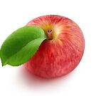 Red apple top view by 6hands