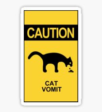 Caution: Cat Vomit - Yellow Sticker