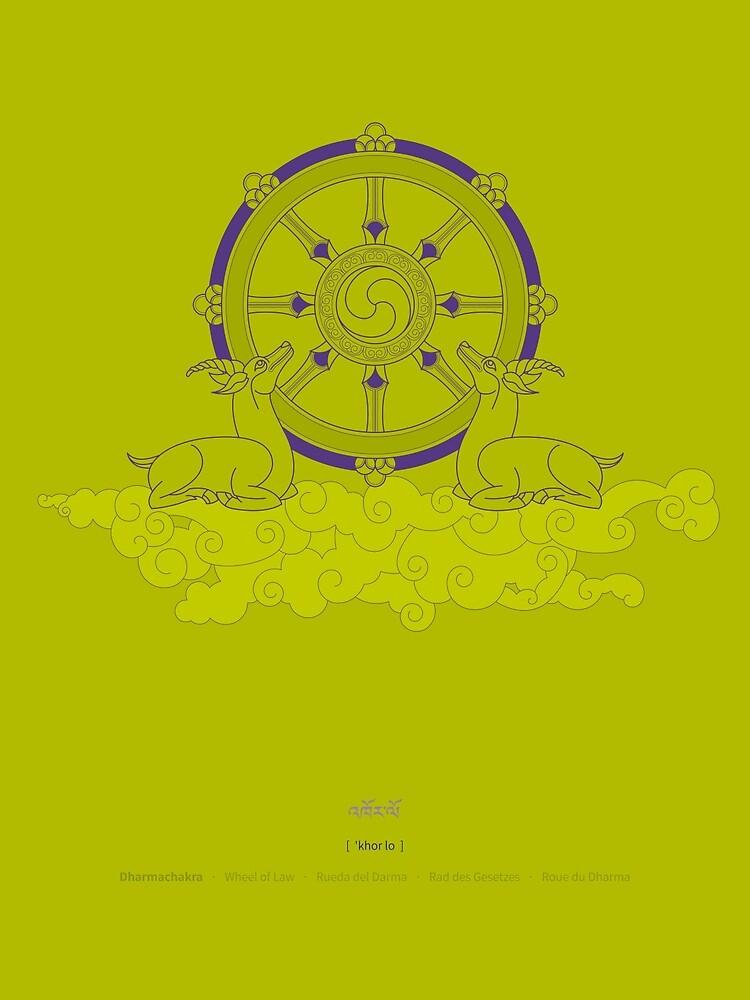 Dharmachakra – Wheel of Law by Thoth-Adan