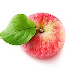 Pink apple top view by 6hands