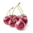 Pile of cherries by 6hands